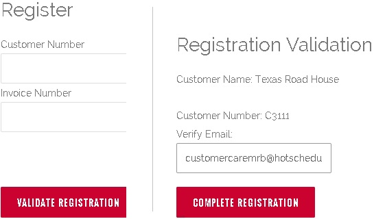 Register/Validate